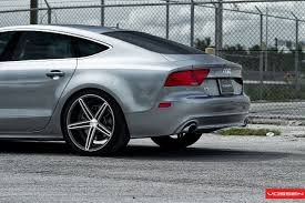 audi a7 rims audi a7 rides on wheels by vossen car tuning