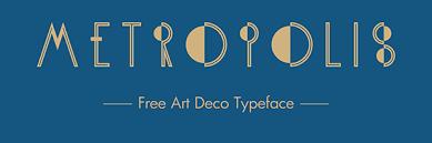 free font of the day kh metropolis art deco typeface designbeep