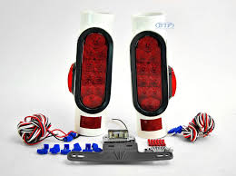 Trailer Brake Lights Led Pipe Light Kit With Led Side Markers For Boat Trailers