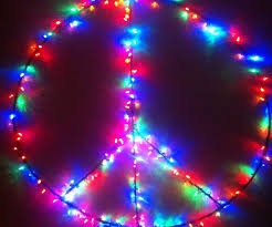large peace sign w lights 3 steps