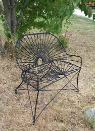 Wrought Iron Patio Furniture Vintage - wrought iron style settee metal patio furniture