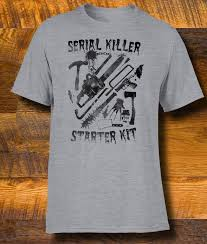 Vintage Halloween T Shirts Serial Killer Starter Kit Men T Shirt Halloween Funny Tee Our T