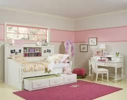Large Pink Area Rug Kids Bedroom Modern Bright Shared Bedroom Design In Pink And