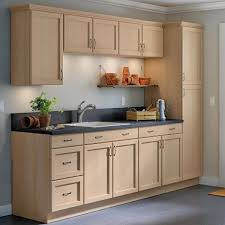 home depot kitchen cabinets and sink easthaven shaker assembled 30x34 5x24 in frameless sink base cabinet with false drawer front in unfinished beech
