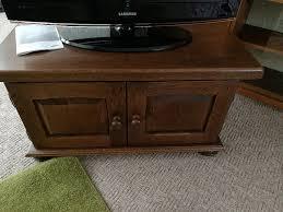 dutch solid dark oak tv cabinet cupboard display unit tv stand