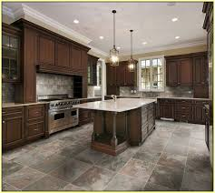 tiled kitchen floors ideas porcelain tile kitchen floors home design and pictures