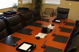 Leather Placemats For Conference Table Shop By Room Conference Room In Black Leather The