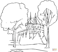 old mansion in the garden coloring page free printable coloring
