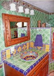 Spanish Style Bathroom by Bathroom Using Mexican Tiles By Kristiblackdesigns Com Kristi