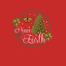 peace on earth butterfly t shirt merry