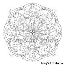 printable coloring page mandala style coloring pattern 007 st