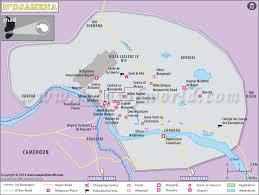 map n n djamena map map of n djamena city chad