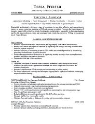 Resume Sample For Secretary by Executive Assistant Resume Is Made For Those Professional Who Are
