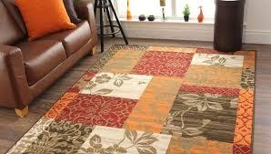 Burnt Orange Shag Rug Home Decorators Rugs Mid Century Inexpensive Living Room Area Soft