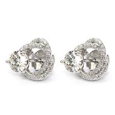 diamond earring jackets diamond stud earring jackets spiral pave wixon jewelers