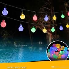 led string lights 20ft 30 led crystal ball waterproof outdoor