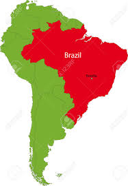 Map Of Brazil South America by Location Of Brazil On The South America Continent Royalty Free