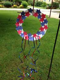 kids craft patriotic wreath memorialday 4thofjuly laborday