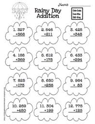rainy day addition rainy days addition worksheets and worksheets