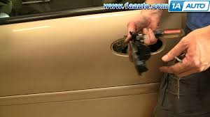 How To Replace Exterior Door by How To Install Replace Broken Exterior Door Handle Chevy Malibu 97