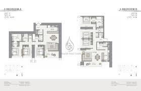Floor 54 by Forte 3 Bedroom Type B Unit 9 Floor Plan