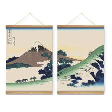 2 pieces japanese style mountain landscape decoration wall