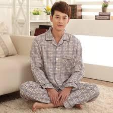 discount mens cotton pajama set 2017 mens cotton pajama set on