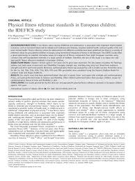 physical fitness reference standards in european children the