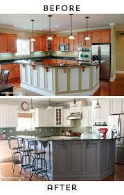 Ideas For Painting Kitchen Cabinets Fantaisie Painted Kitchen Cabinets Before And After Pictures Of