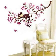 Monkey Nursery Wall Decals Monkey Lying On Tree Nursery Wall For Baby Room Wall