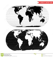 Map Projection Oval World Map Projection Stock Vector Image 69995279
