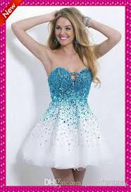 graduation gowns for sale crystals beaded white and blue lace up homecoming graduation