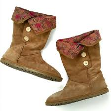 womens ugg lo pro boot chestnut 82 ugg shoes ugg lo pro boots foldover logo lined 3387 from
