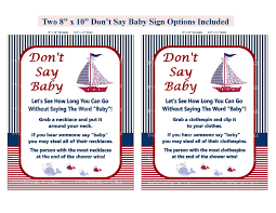 nautical don u0027t say baby shower diaper pin clothes pin