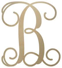 monogramed letters unfinished wooden monogram letter 18 contemporary wall