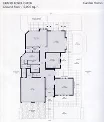 garden home atrium entry floor plan house design plans