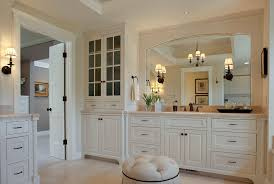 White Bathroom Lighting White Corner Bathroom Cabinets With Traditional Wood Molding