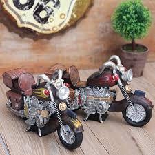 retro motorcycle ornaments locomotive mini kitchen decor resin