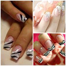 deco ongle en gel noir et blanc pour les ongles