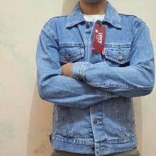 Baju Levis Biru baju jambi jaket levis bahan denim bio blitz biru muda