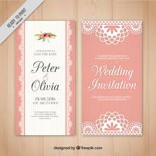wedding invitations freepik pink wedding card in vintage style vector free