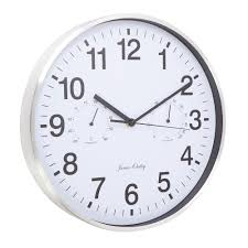 buy thermometer u0026 hygrometer wall clock online purely wall clocks