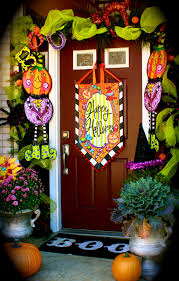 decoration charming ideas about halloween door decorations