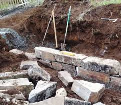 beginners guide to building stone retaining walls watters garden