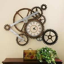 appealing steam punk wall clock 67 steampunk wall clock etsy view