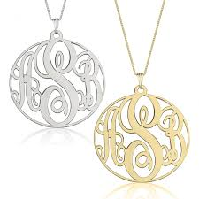 circle monogram necklace monogram pendant
