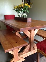 farm table with bench ana white fancy x farmhouse table and benches diy projects