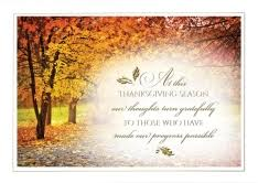 autumn thanksgiving greeting cards