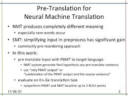 coling2016 pre translation for neural machine translation