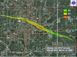 National Weather Forecast Map The Atlanta Tornado March 14 2008